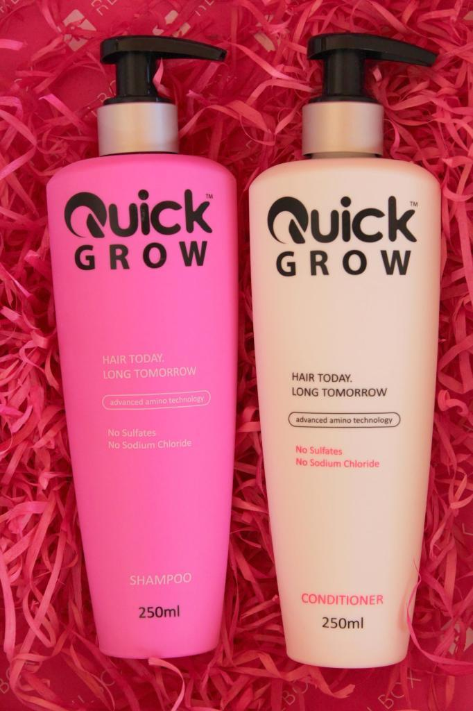 Quick grow shampoo and conditioner